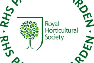 Logo de RHS, Royal Horticultural Society, dont nous sommes membres.