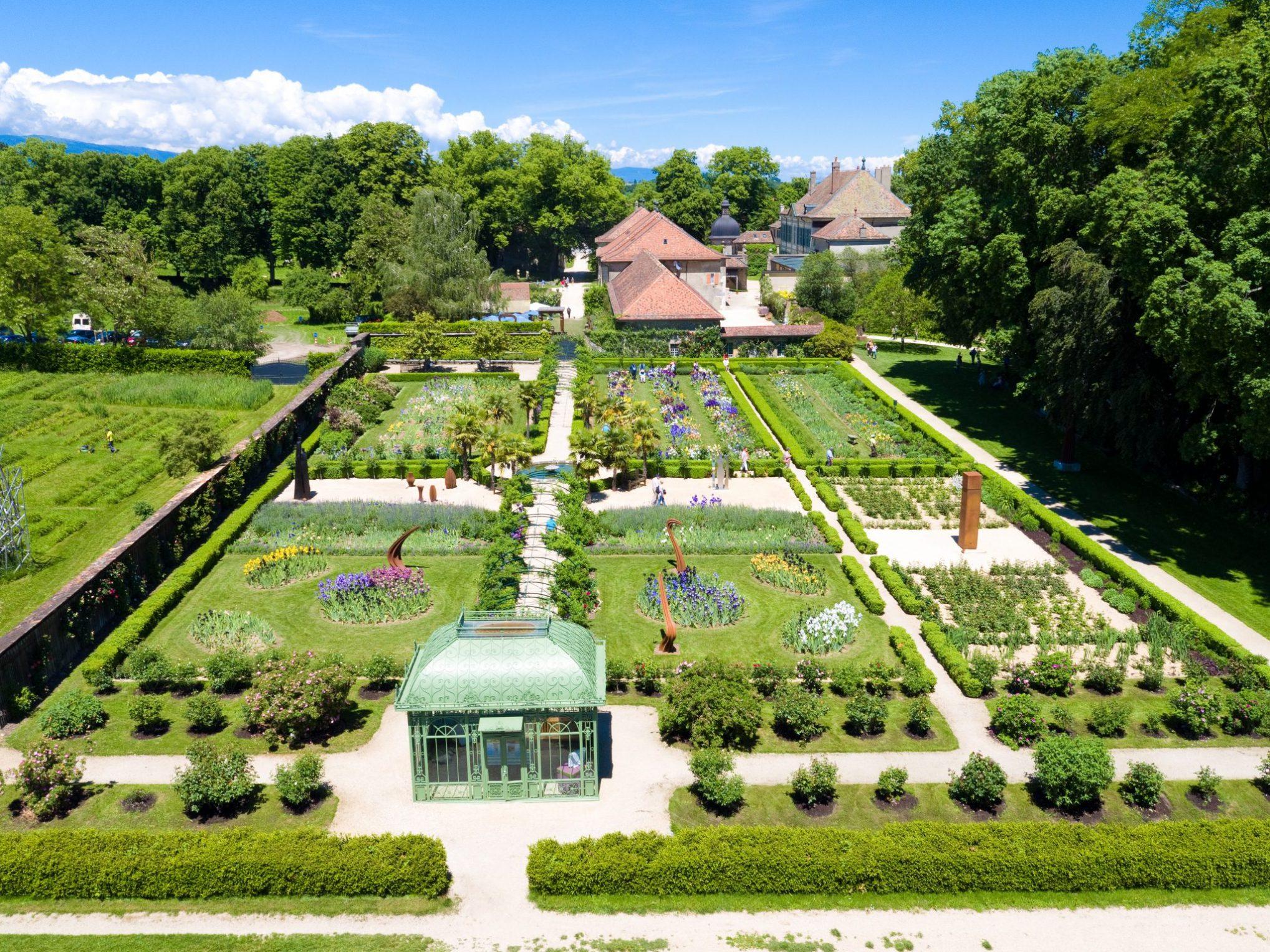 Vue aérienne du jardin de Doreen