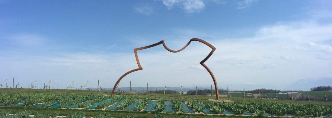 Sculpture des deux artistes suisse-allemands Markus Graf et Gabriel Mazenauer.