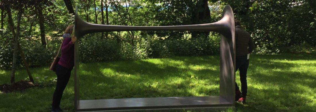 Sculpture sonore de Michele Spanghero arrivée dans les jardins en juin 2019.