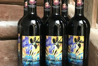 Bouteilles de notre Pinot Noir.