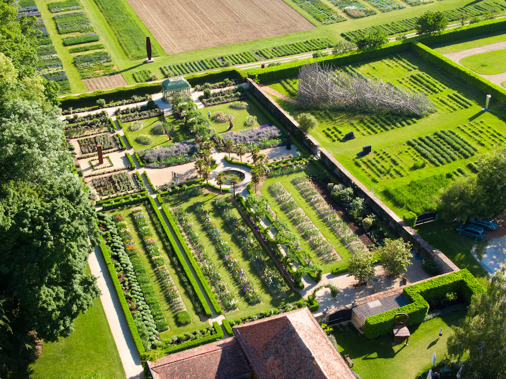 Vue aérienne du Jardin de Doreen.